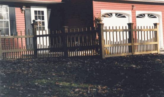 Custom Wood Fence 2